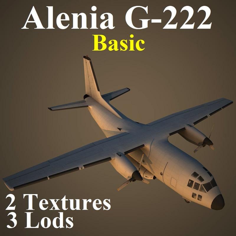 3d model of alenia basic aircraft