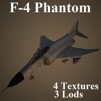 3d model mcdonnell douglas 4 fighter aircraft