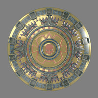 Inka / Aztek sun emblem
