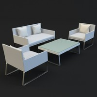 garden outdoor set c4d