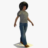 3d realistically walking african male model