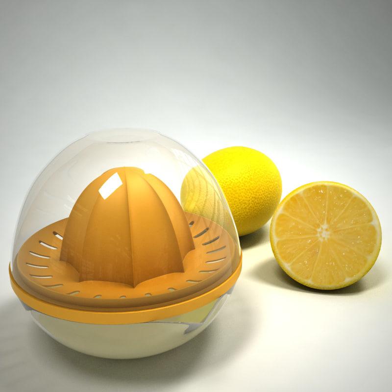 3d model citrus juicer lemons