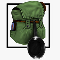 asset backpack 3d model