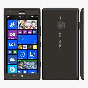 3d model nokia lumia 1520 black