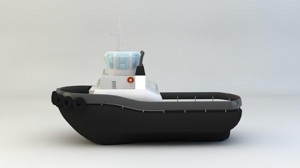 3d remorqueure model