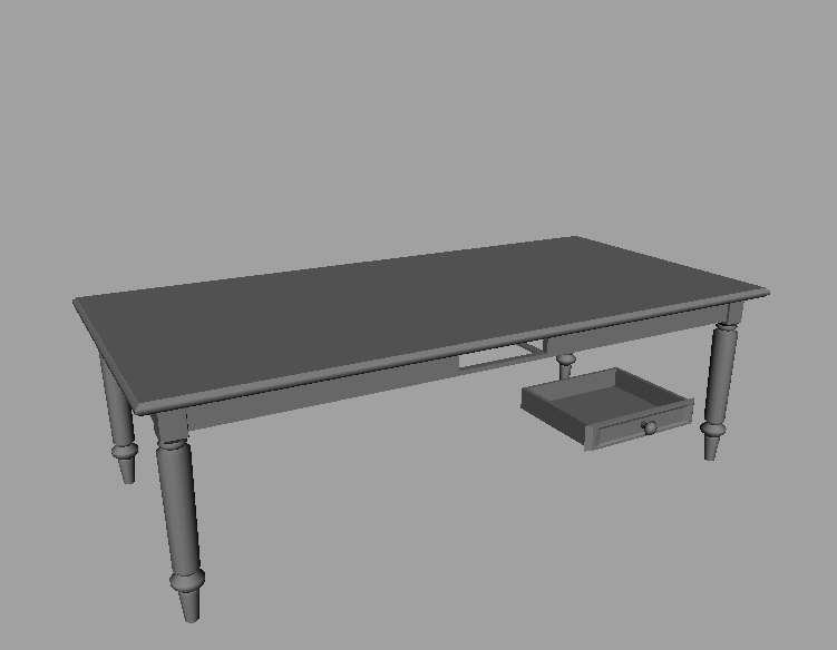 classic table games 3d model