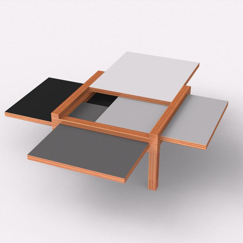rhino sculpture par4 coffee table