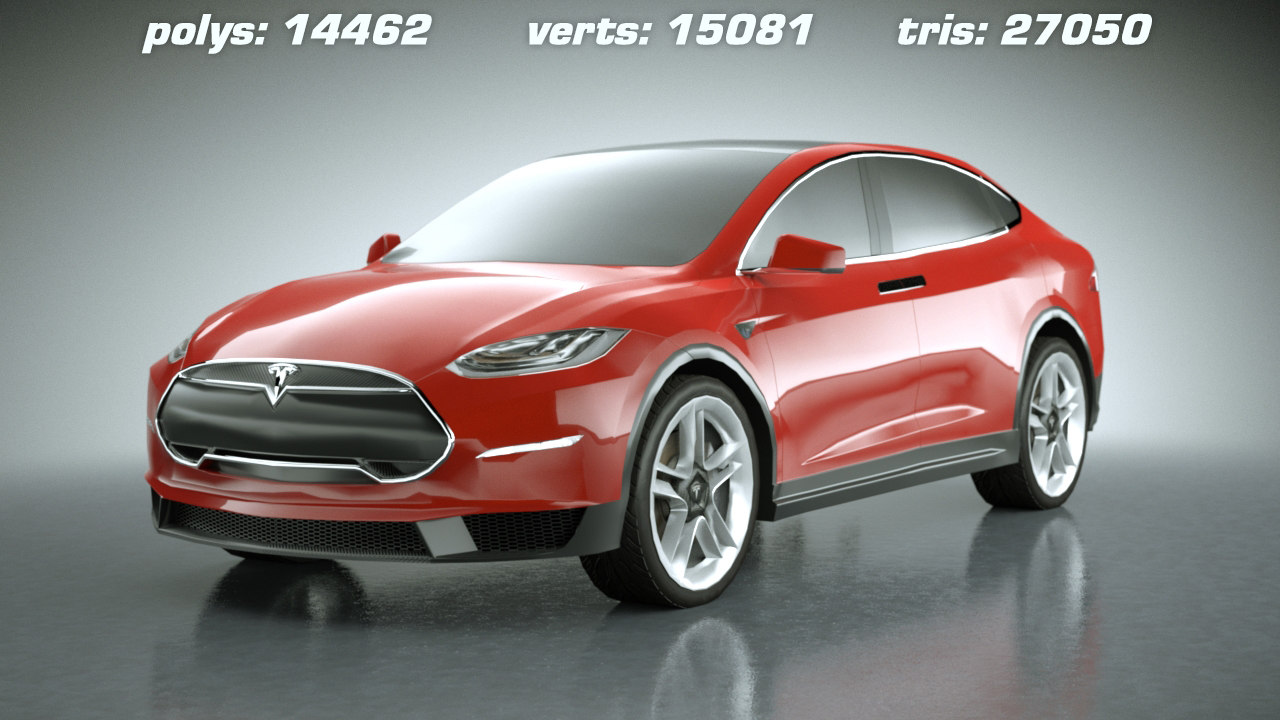 3ds 2014 tesla x modeled