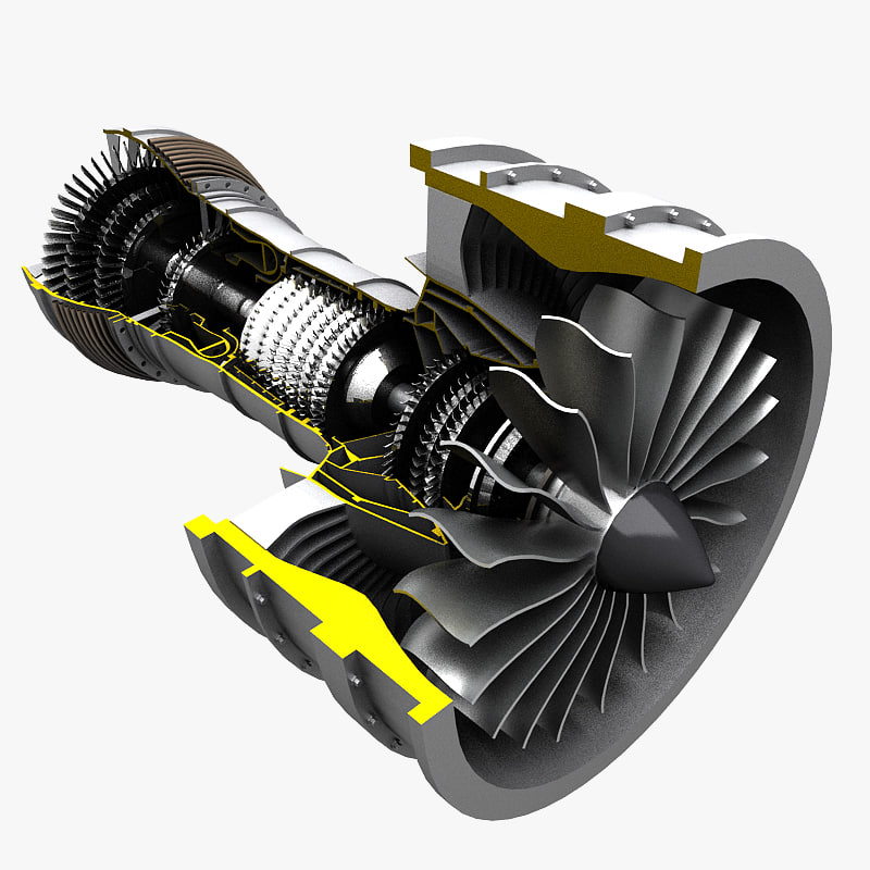 turbofan fan turbo 3d max