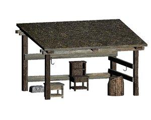 3d outdoor stall