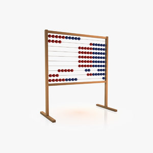 3d school calculator children model