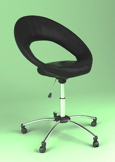 3d model desk chair