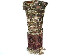 3d model column dungeon