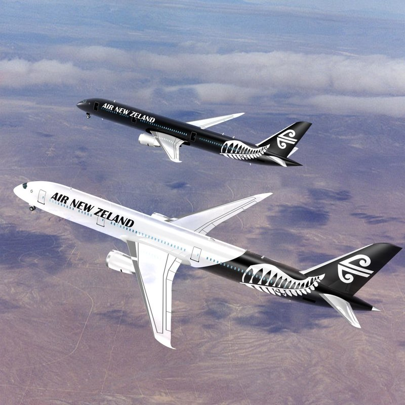 air new zeland 787-9 3d max