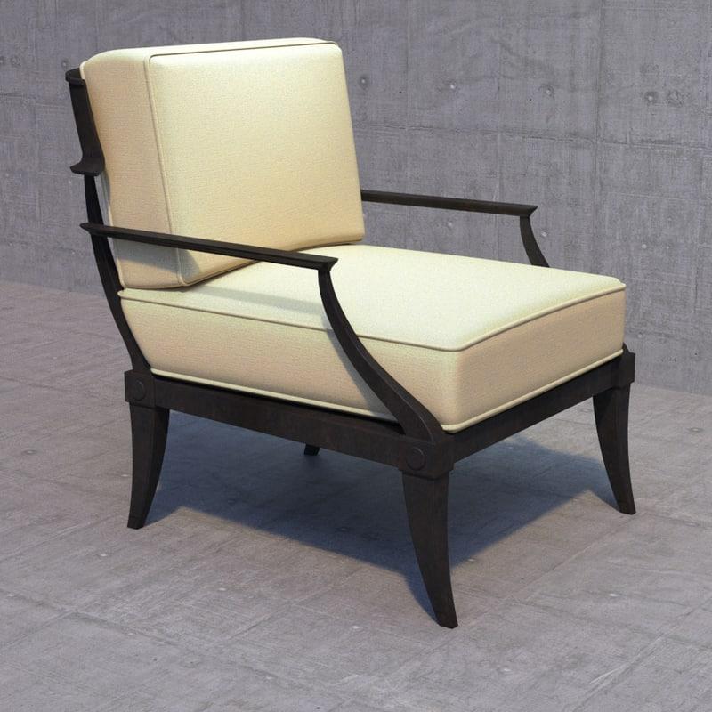 klismos lounge chair max