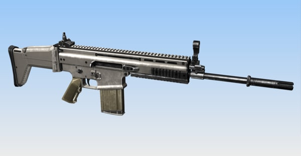 scar mk17 combat assault rifle obj