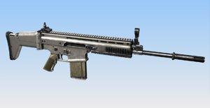 scar mk17 combat assault rifle obj