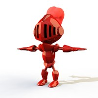 cartoon knight 3d model