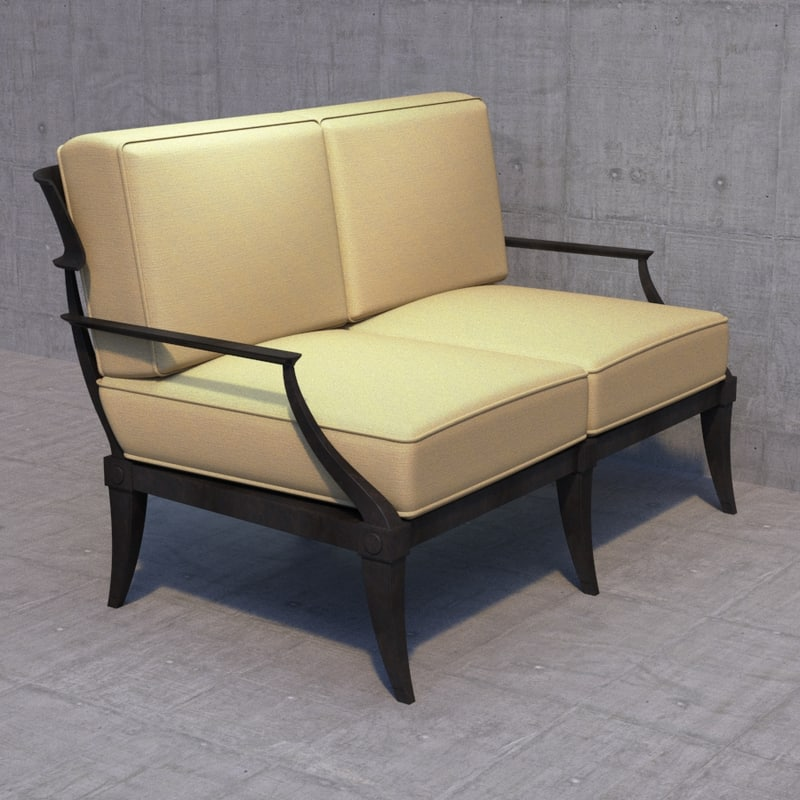 3d restoration hardware sofa model