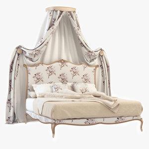 3d model classic bed salda