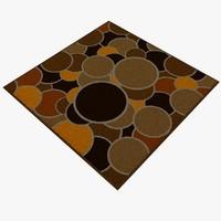 carpet rug 05 3d model