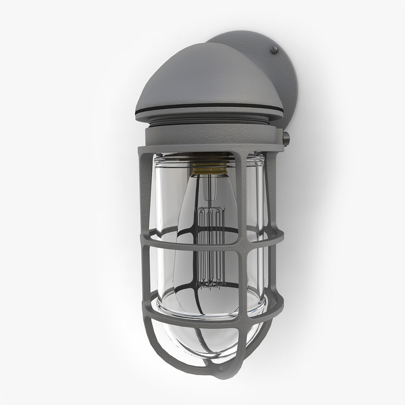 retro industrial lamp 09 3d model