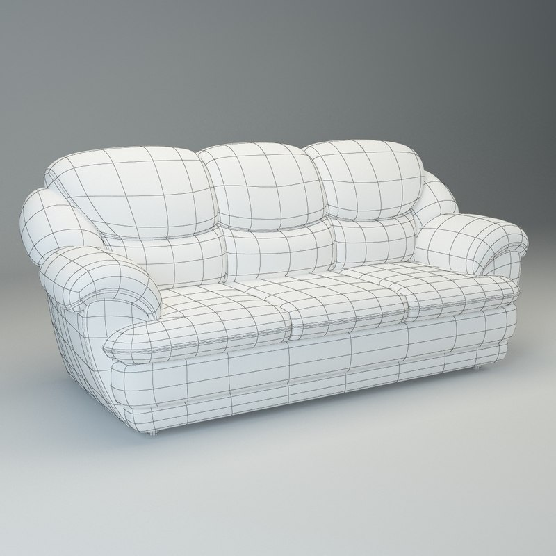 3d max basic sofa osvald