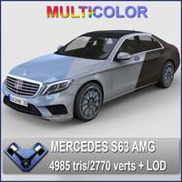 3d model 2014 mercedes s63 amg