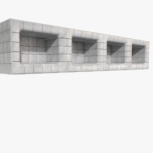 morgue water bathroom bath 3d model