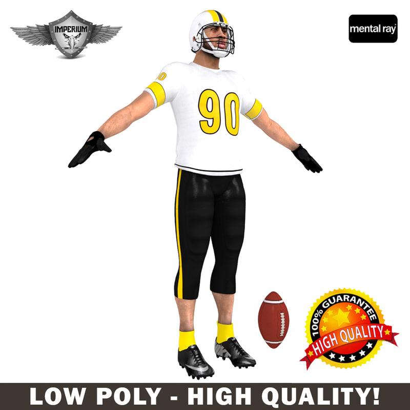 custom football player 3d max
