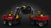 3d model toy pneumatic excavator