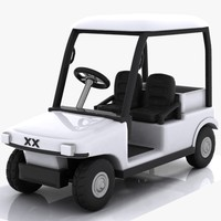 cartoon golf car 3d model