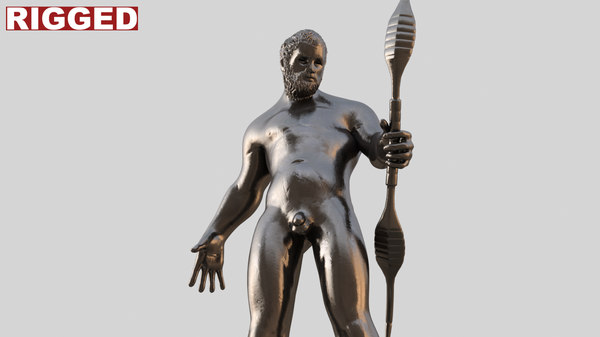 apollon statue 3d model