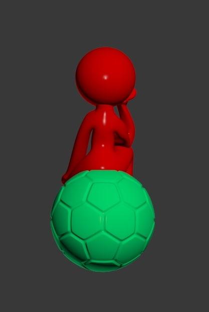 3d model man ball