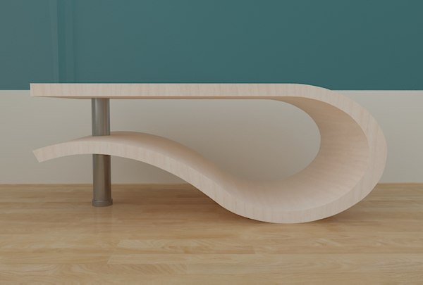 3d model of modern coffe table