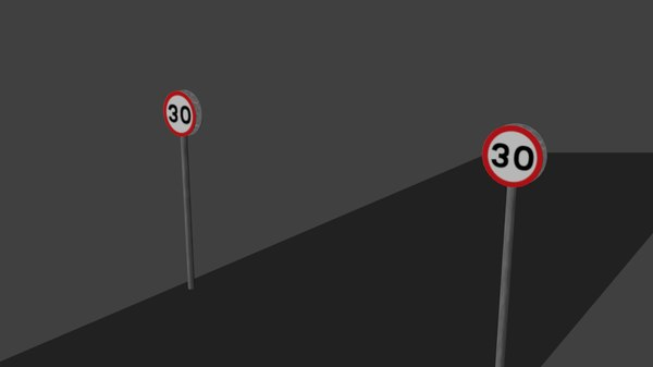 free blend mode road sign