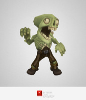monster zombie commoner 3d ma