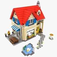 3d lego set 6754 house