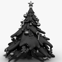 Christmas Tree Cartoon Style