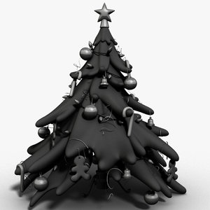 3d decorated tree