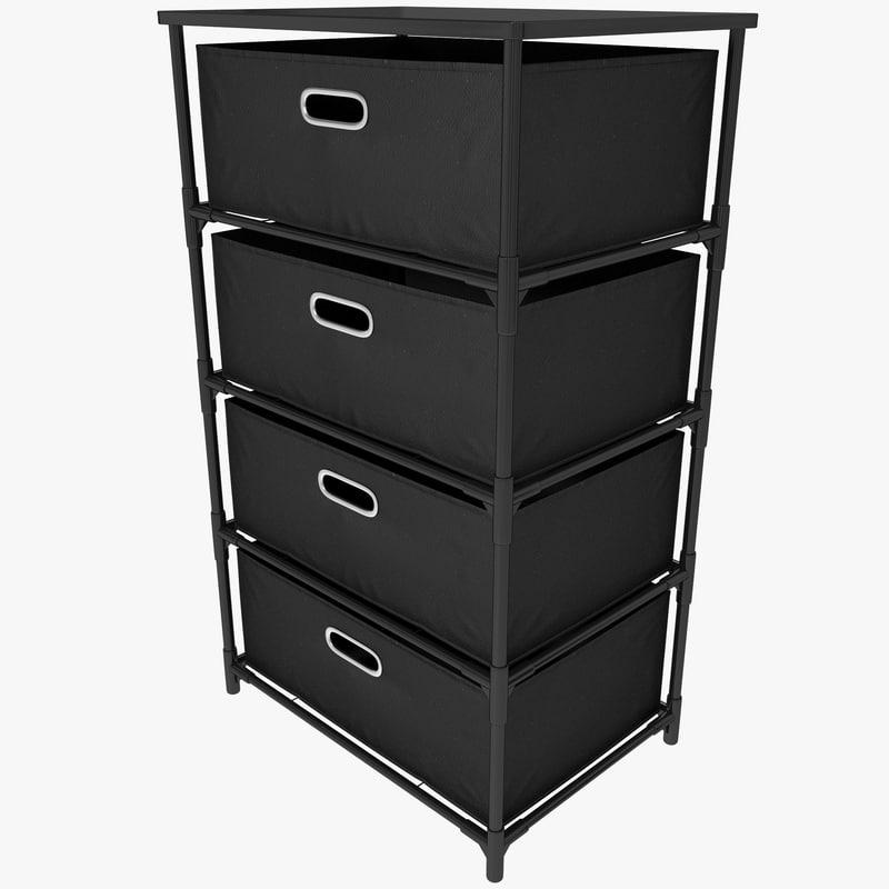 drawer canvas storage black 3d max