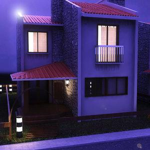 3d dublex villa day night