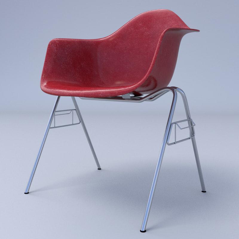 3dsmax eames arm chair