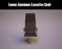 3d model eames aluminum executive chair