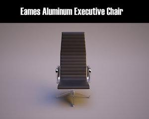 3d model eames aluminum executive chair