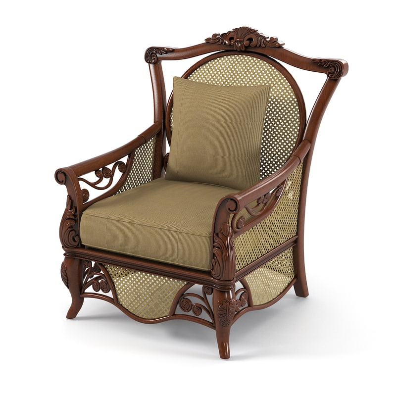 3d model fiji outdoor wicker