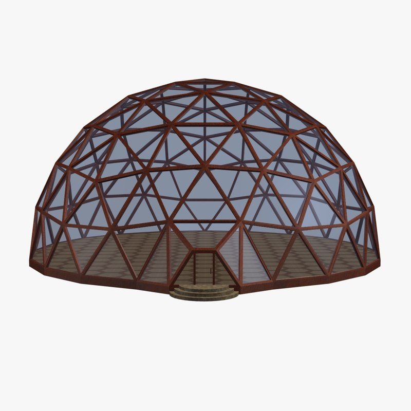 geodesic dome 3d model