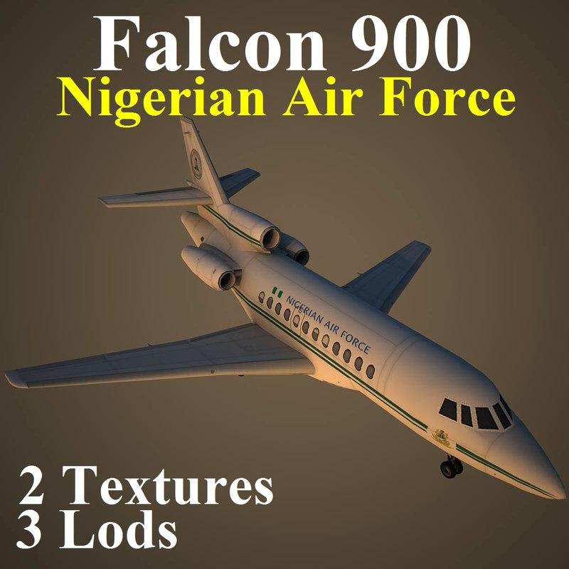 3d dassault falcon 900 fgn