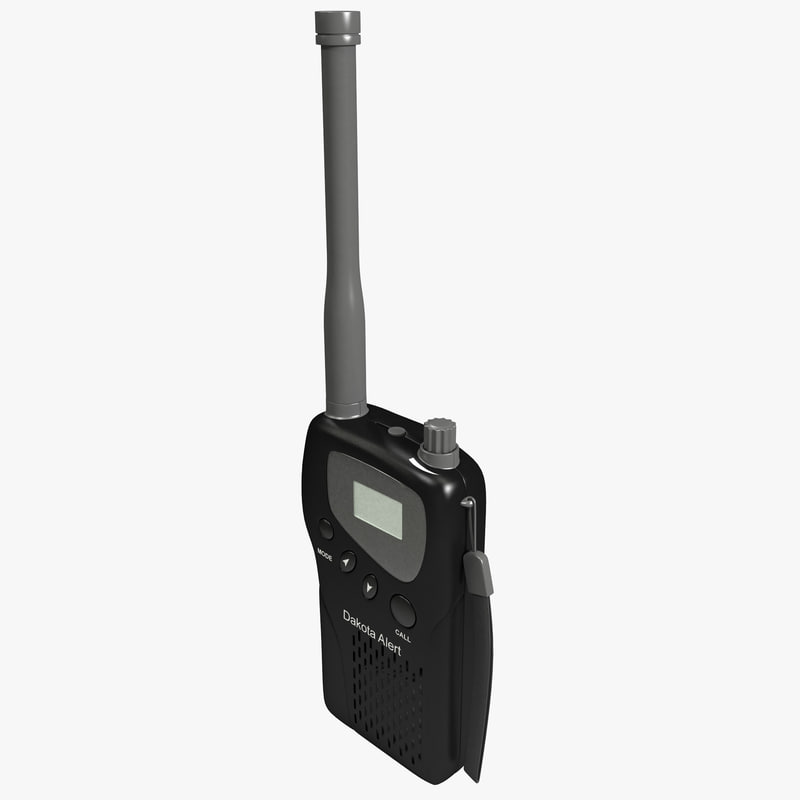m538-ht alert radio transceiver 3d model