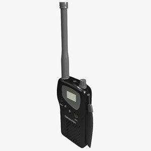 m538-ht alert radio transceiver 3d model